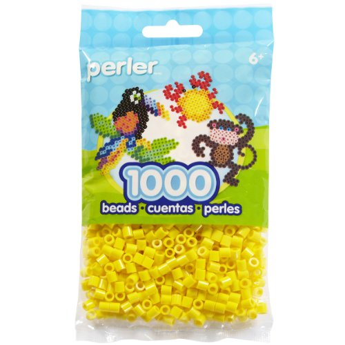 Perler Beads Fuse Beads for Crafts, 1000pcs, Yellow