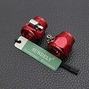SUNDELY/® Hose End Finisher Jubilee Clip Clamp Oil Water Fuel Red AN4 AN6 AN8 AN10 1-Pair 12.5mm OD hose AN4