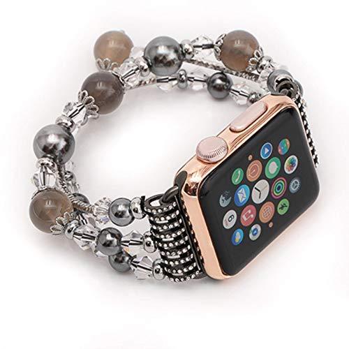 Correa de pulsera de reloj para Apple Watch 4 5 6 SE Band 44mm 40mm Bandas de reloj de mujer hechas a mano para iwatch 3 2 1 42mm 38mm Accesorios