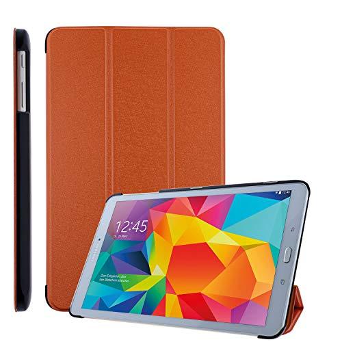 COOVY® Custodia ultra magro per Samsung TAB E 9.6 SM-T560 SM-T561 SM-T565 Cover con Funzione di Supporto I arancio