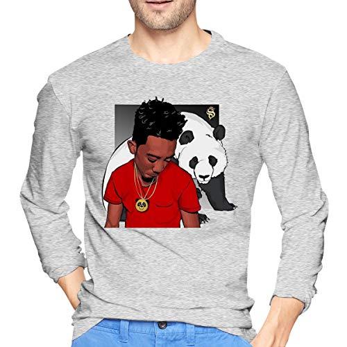 Runxin New Customized Desiigner with Panda Fashion Funny Sweatshirts Round Collar for Male Gray S