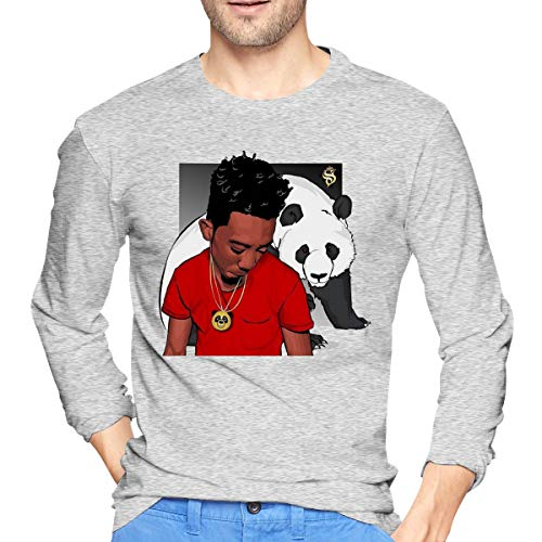 Runxin New Customized Desiigner with Panda Fashion Funny Sweatshirts Round Collar for Male Gray S