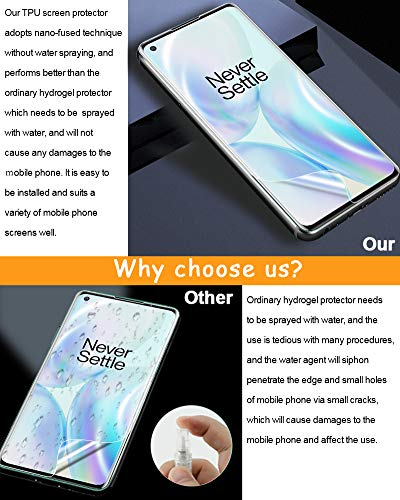 [3 Pack] TopACE Screen Protector for OnePlus 8, Flexible TPU Film HD [Self Healing][Touch Sensitive][Scratch Resistant] with Lifetime Replacement Warranty