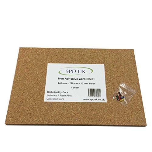 Pinnwand Korkplatte–440mm x 290mm–10mm dick