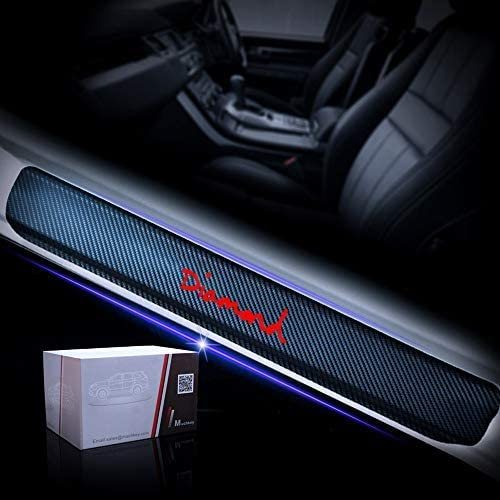 for Jeep Grand Cherokee SRT Protector Car Styling Tread Accessories Pedal Decoration Stickers Car Door Sill Kick Plate Sticker Pedal Cover Protection 4Pcs Carbon Fiber Door Sill Scuff Kick Plates