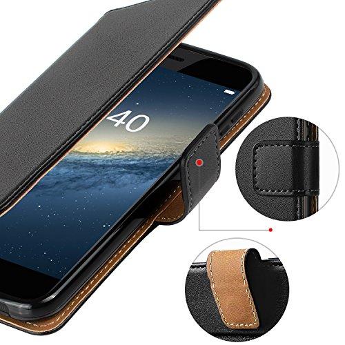 HOOMIL Handyhülle für Huawei P10 Hülle, Premium PU Leder Flip Schutzhülle für Huawei P10 Tasche, Schwarz - 5