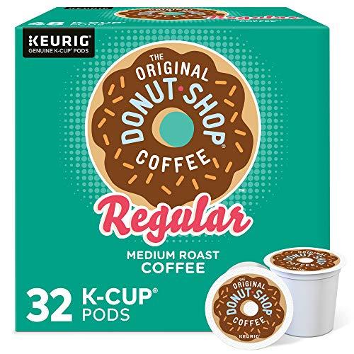 The Original Donut Shop Regular, Single-Serve Keurig K-Cup Pods, Medium Roast Coffee Pods, 32 Count
