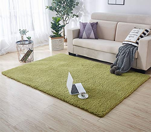 Bath Mats Rug, 1 PCS Antideslizante Alfombra de baño en el baño, Máquina de Lavado de baño de alfombras Mat for Tapetes Baño (Color : Green Rectangle, Specification : About 80x100cm)