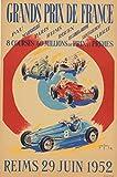 Reims Grand Prix Auto 1952 Poster Reproduktion/Format 50 x