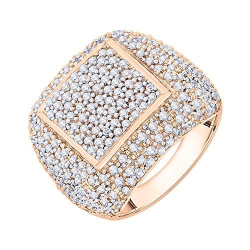 Anillo de oro de 14 K con diamante (2 2/3 quilates) (I-color, SI3/I1-Clarity)