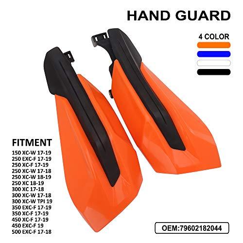 Protectores de mano para motocicleta, protectores de cepillo para K.T.M 150 XCW 250 350 EXC-F XC-F 250 XC-W 450 XCF 17-19 250 XC 18-19 300 XC XCW 500 EXCF 17-18 300 XCW 450 19 Dirt Bike - Naranja