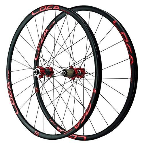 TYXTYX Juego de Ruedas de Bicicleta MTB 26 27,5 29 Pulgadas Freno de Disco Llanta de aleación de Doble Capa Rueda de Bicicleta de montaña 6 trinquetes Rodamiento Sellado QR 1665g