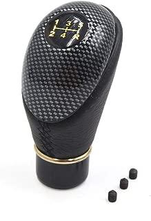 FidgetKute 13mm Dia Black Carbon Fiber Pattern 5 Speed Manual Stick Gear Shift Knob for Car