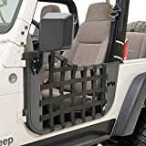EAG Matrix Steel Tubular Door with Side View Mirror Fit for 97-06 Wrangler TJ