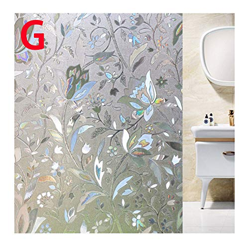 Metyere 3D Window Glass Film Sticker Stained Decorative Static Clings Self-Adhesive Sticker Decal for Privacy