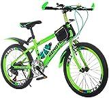 Bicicletas de carretera bicicleta al aire libre Estudiante carretera Niños bicicleta y niñas de bicicletas de montaña Viajes de bicicletas de 20 pulgadas de bicicletas de velocidad ajustable (color: v
