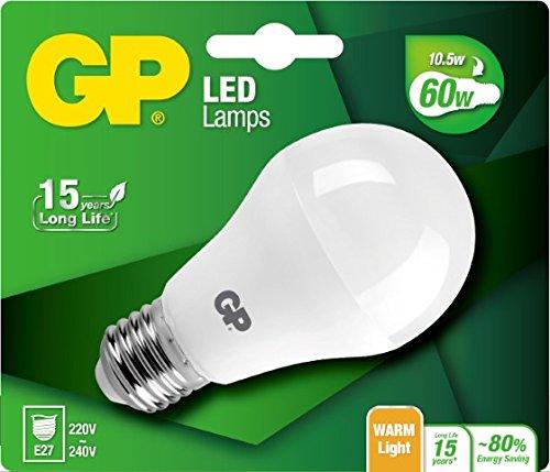 GP Lighting LED Mini Globo Terráqueo (E14, 3W equivalentes a 25W, 2700K, 250lúmenes con aprox. 15,000Horas de duración, E27, E27