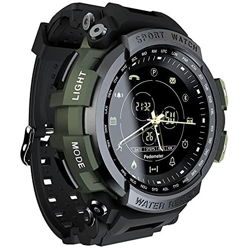 LOKMAT MK28 Reloj inteligente deportivo , rastreadores de actividad física, rastreadores de actividad, reloj digital recordatorio, reloj inteligente para hombres y mujeres para IOS Android (green)
