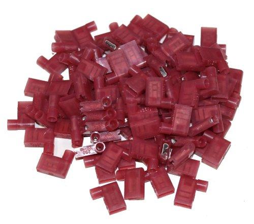 Aerzetix 100 geïsoleerde kabelschoenen 6,3 mm 90 graden helling C1299
