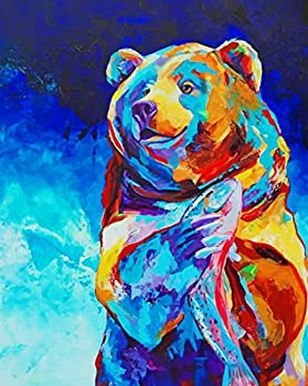 Ritoti DIY 5D Diamond Painting Kits for Adults Beginners Full Drill Crystal Rhinestone Pictures Arts Craft for Home Wall Decor 11.81x15.75 Inch,Colorful Bear