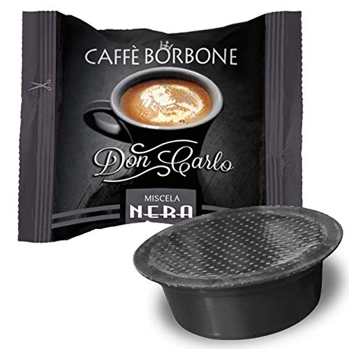 CAFFÈ BORBONE DON CARLO - MISCELA NERA - Box 100 A MODO MIO KOMPATIBLE KAPSELN 7.2g