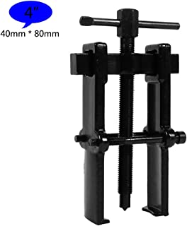 2 Jaw Bearing Puller Remover Forged Gear Removal Repair Tool for Motorcycle Car Auto Adjustable Range Carbon Steel Straight Type Black - 5 Sizes for Choice (4in-40×80mm)