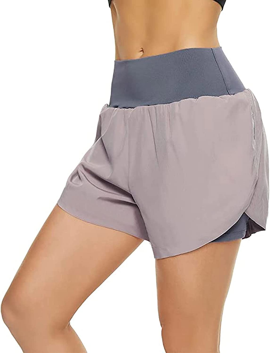 Quality inspection Women's Selling rankings 2 in 1 Running Shorts Elastic Workou Waisted Sporty High