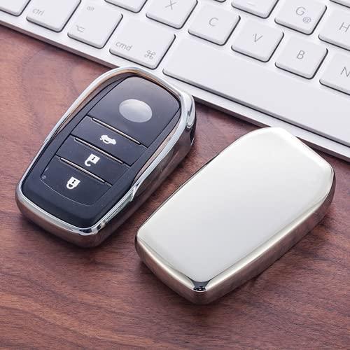 KSKKD Funda de TPU Suave para Llave, para Toyota Chr C-HR Land Cruiser 200 Avensis Auris Corolla 2 y 3 Llavero de protección de Llave de Estilo de Coche