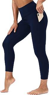 Dielusa Womens Yoga Leggings High Waist Tummy Control Workout Tights Running Pants