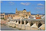 Puzzle- España Córdoba Mezquita y Catedral Puente Romano Rompecabezas para Adultos Niños 1000 Piezas Juego de Rompecabezas de Madera para Regalos Decoración del hogar