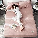 GTWOZNB Protector de colchón Acolchado - Microfibra - Transpirable Sábana de algodón Simple-6_150 * 200cm