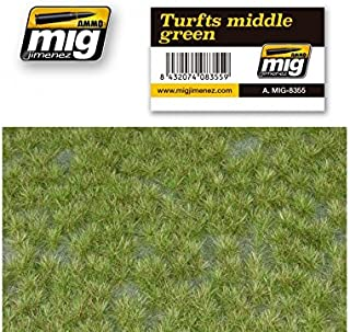 AMMO MIG-8355 Turfts Middle Green Grass Mats, Multicolour
