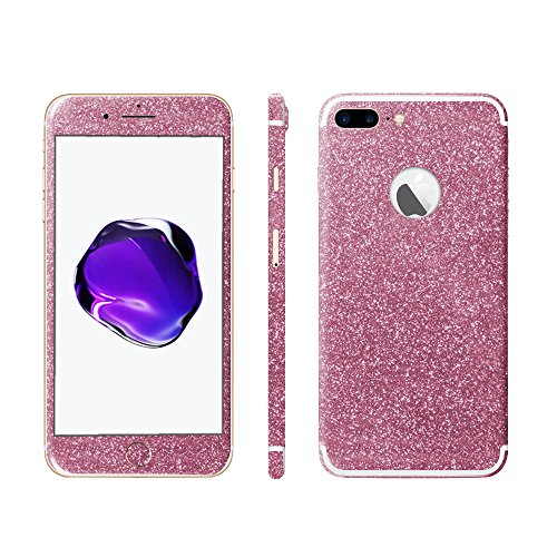 Luch iPhone 7 8 X Glitter Screen Skin Diamond Shine Sticker plakfolie beschermfolie voor de voor- en achterkant, iPhone 7 Plus / 8 Plus, roze