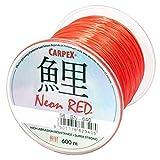 Robinson Carpex - Hilo de Pesca (300/600 m, monofilamento), Color Rojo, Rojo, 300m/0,26mm/14kg
