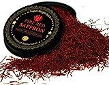 Persian Saffron Threads, Pure Red Saffron Spice Threads | Super Negin Grade | Highest Quality and Flavor | For Culinary Use Such as Tea, Paella Rice, Risotto, Tachin, Basmati, Rice (2 Grams)