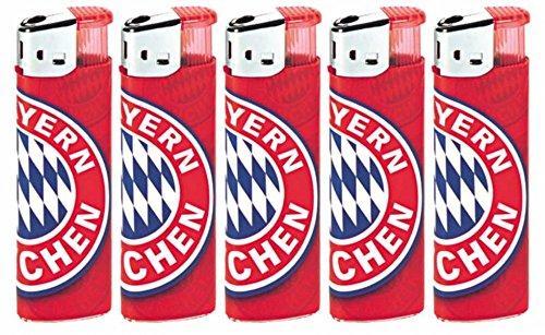 5er Set Feuerzeug Logo FC Bayern München FCB