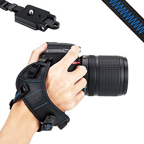 JJC DSLR Camera Wrist Hand Strap Grip w/Arca Swiss Type Quick Release Plate for Canon 7D 7DM2 6DM2 5DM4 5DM3 5Ds R 80D 77D 70D 60D T7i T6s T6i Nikon D850 D810 D750 D610 D7500 D5600 D5500 D3500 P1000