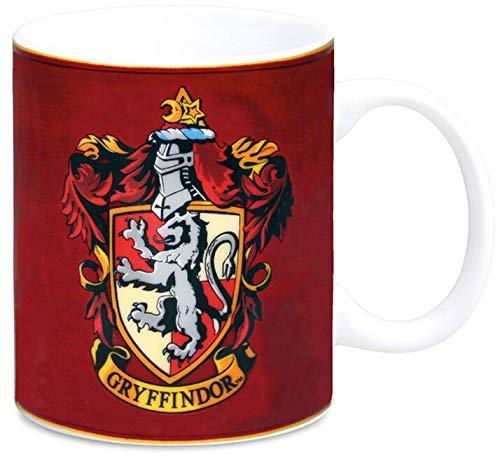 Harry Potter Taza de porcelana, color rojo, 8 x 8 x 9,5 cm, 1 unidad