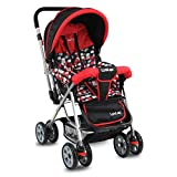 LuvLap Sunshine Stroller/Pram, Easy Fold, for Newborn Baby/Kids, 0-3 Years (Red)
