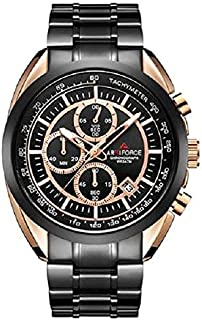 AF8009 RG-B Armiforce Watch- For Men-Black/Rose Gold