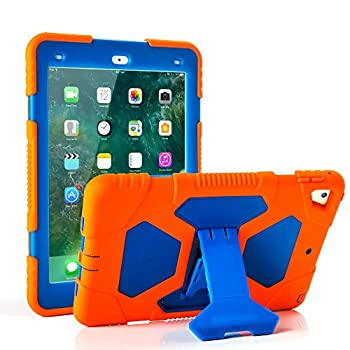 iPad Pro 9.7 Case  2016 Release  ACEGUARDER Case for iPad Pro 9.7  A1673 A1674 A1675  Heavy Duty Shockproof Rugged Cover Adjustable Stand for iPad Pro 9.7 inch - Blue Orange