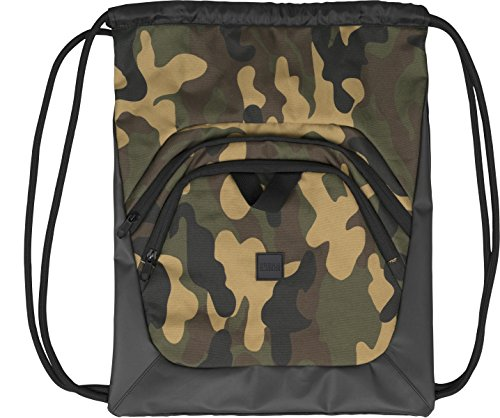 Urban Classics Ball Gym Bag Turnbeutel, 45 cm, Black/Camo