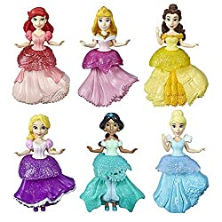 commercial Disney Princess collectable doll, set of 6 with 6 royal clips, clothes with clips, toys … disney princess toys