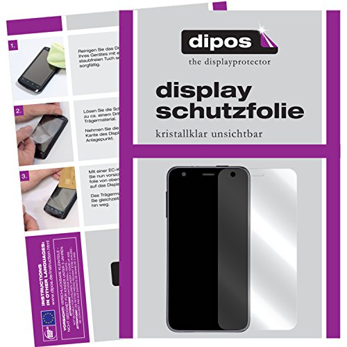 dipos – Protector de pantalla compatible con Alcatel One Touch caretime Watch (2 unidades, transparentes)