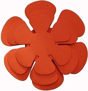 HAWOK Pot/Pan Protectors-set of 3 Diamenter 8 inch 10inch 12inch Orange