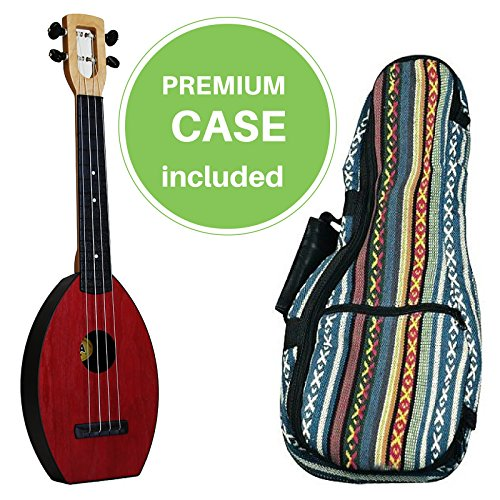FLEA Ukulele (RED, Concert) + Eddy Finn 'Hippie' Bag