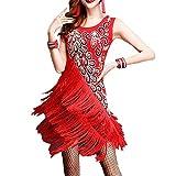 女性用ダンススカート 女性フリンジタッセル社交ボールサンバタンゴラテンダンスドレス競技コスチュームテーマパーティースイングドレス ダンスドレス衣装 (Color : Royal Blue, Size : L)
