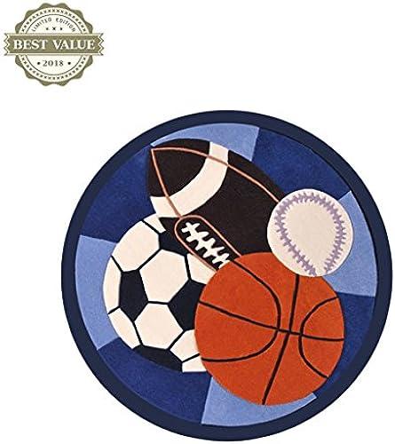 Li Li Na Shop Kinderzimmer Teppich Boy Runde Spielunterlage Cartoon Fußball Basketball Krabbeldecke Schlafzimmer Zimmer Matte Runde Teppich Computer Stuhl Kissen