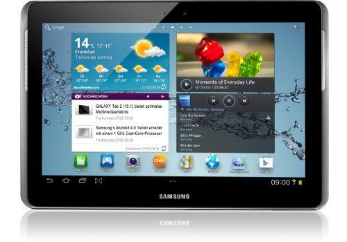 Samsung Galaxy Tab 2 P5110 WIFI Tablet (25,7 cm (10.1 Zoll) Bildschirm, 1GHz Prozessor, 1GB RAM, 16 GB Speicher, 3,2 Megapixel Kamera, Android) titanium-silber