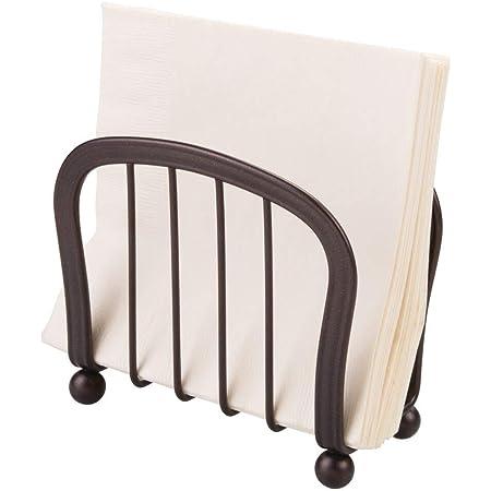 Idesign York Lyra Decorative Steel Free Standing Napkin Holder 5 X 4 5 X 5 Bronze Kitchen Dining